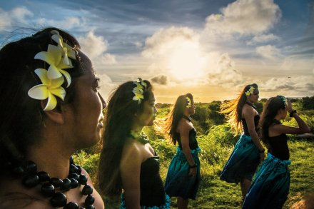 "Mark Peterson and Greta Pratt for The New York Times. The Tamatea Nui Lana'i Polynesian dance group. All of Lanai's owners have sought, in one way or another, to refashion the island into a paradise on earth. Larry Ellison hopes to transform it into the ""first economically viable, 100 percent green community."""